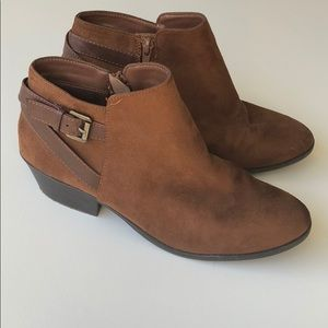 Soda Brown Suede Ankle boots with Side buckle